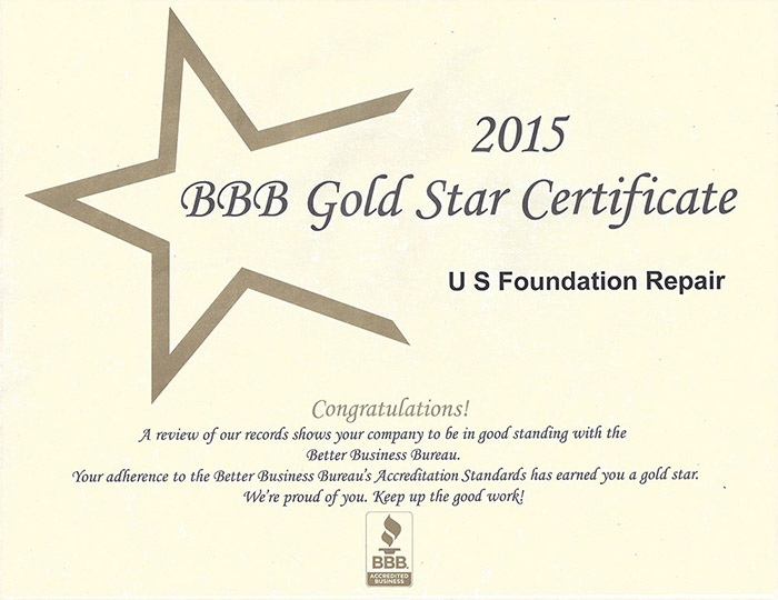 Excellent Foundation Repair Service Recognized By Bbb